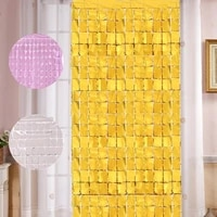 1pc birthday party decorations glitter curtain 2m length shimmer wall backdrop wedding decoration backdrops curtain sequin wall