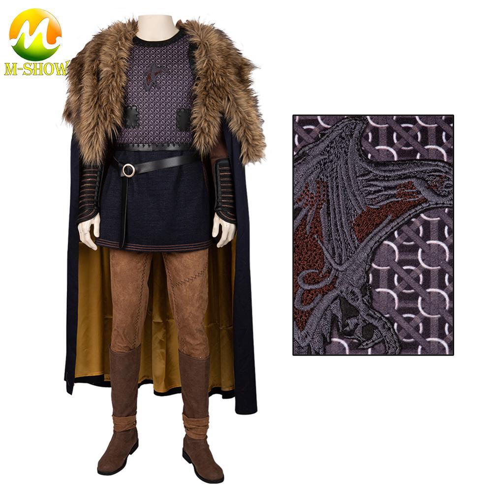Vikings cosplay traje ragnar lothbrok cosplay manto calças superiores trajes de halloween feito sob encomenda