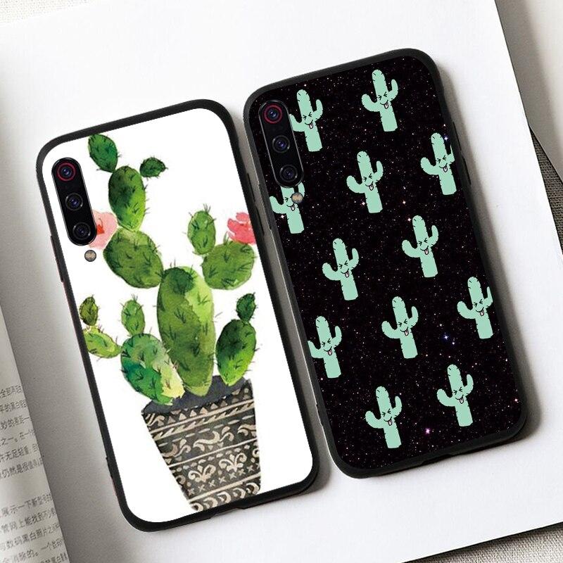 Fundas de teléfono de cuero de cactus para Samsung Galaxy S10 S9 S8 Plus S10e Tpu cubierta de lujo en samsang s7 s6 edge s10plus funda coque etui