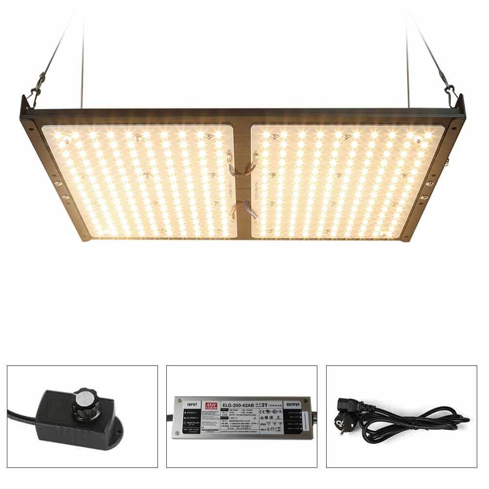 Placa cuántica regulable, SAMSUNG LM301B de espectro completo, luz LED para cultivo de plantas de 300W, lámpara para cultivo de plantas de invernadero en interiores