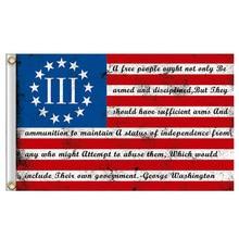 90x150cm Ross  USA Second Amendment flag