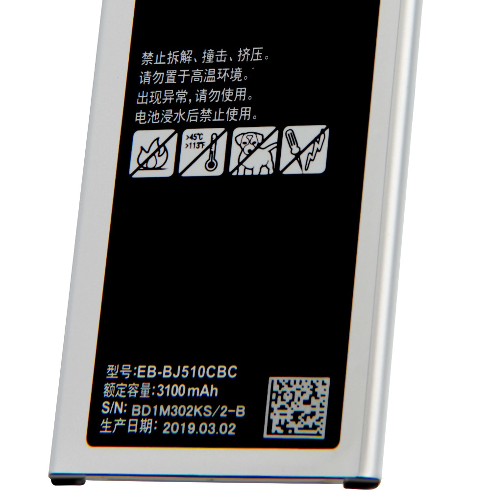 Samsung Original EB-BJ510CBC Battery For Samsung GALAXY 2016 Version J510 j5109 j5108 J5 EB-BJ510CBE Phone Battery 3100mAh enlarge