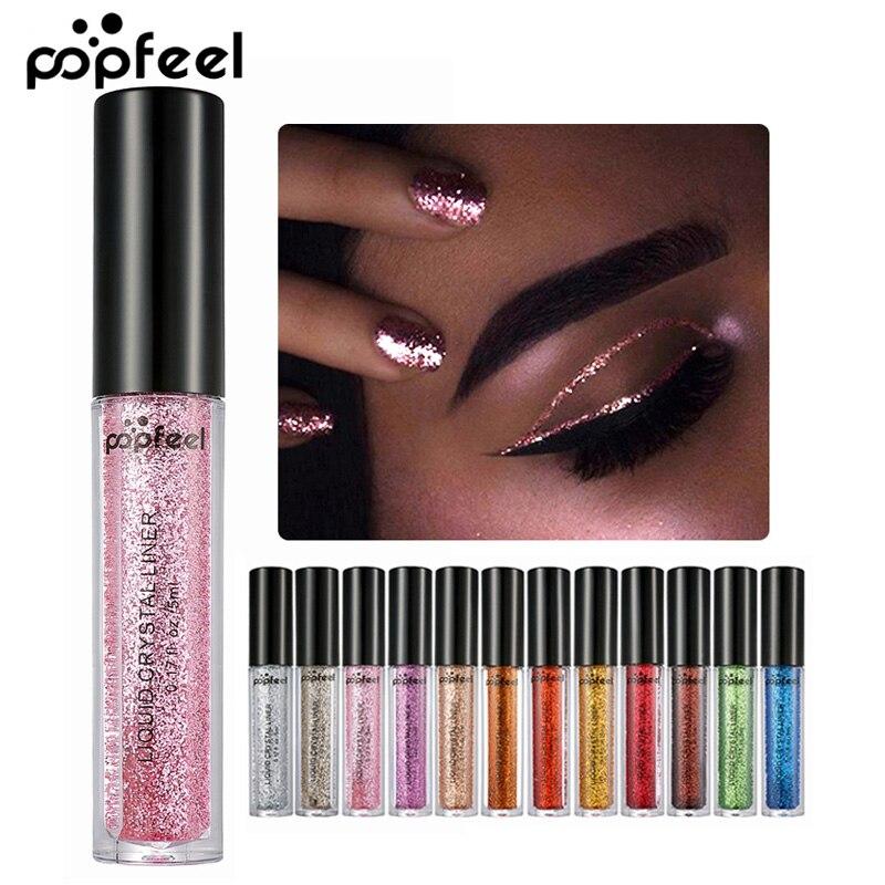 Augen Make-Up Glitter & Shimmer Flüssigkeit Diamant Make up Pearly Shinning Creme für Lidschatten Eyeliner langlebige Auge liner Schatten