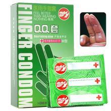 10 pièces/ensemble Latex doigt manches préservatifs Ultra nervuré Extra lubrifié produits sexuels Masturbation féminine pour les femmes adultes produits
