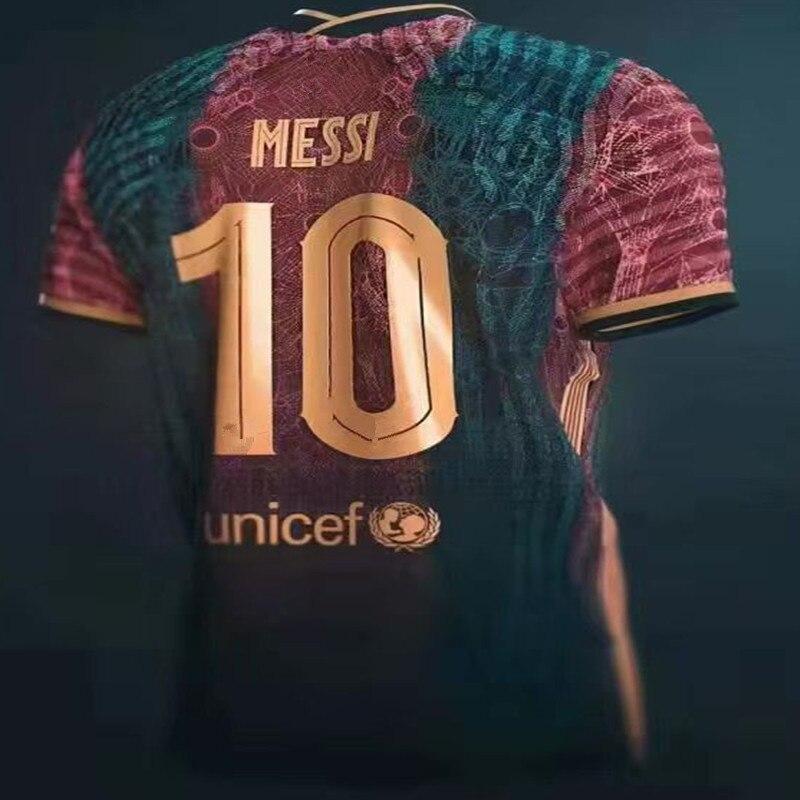 MESSI-camisa de alta calidad para hombre y mujer, camisa de cuello redondo...