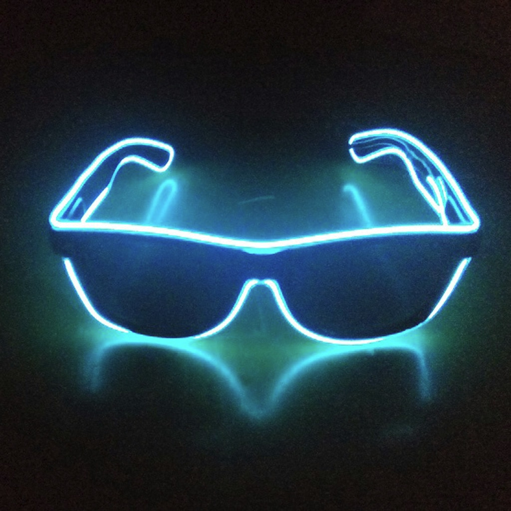 El LED Club fiesta Luz gafas brillante De la caja De batería...