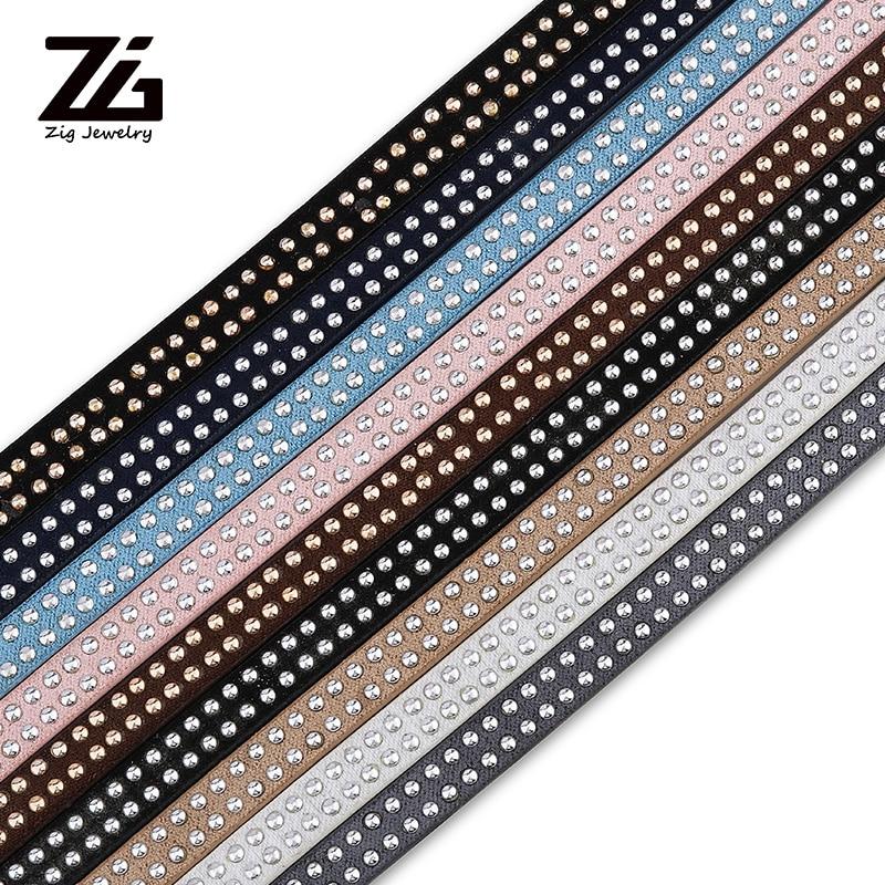 Zg 1.2 meter/pcs camurça rebite dot 5mm cabo de couro liso pulseira jóias descobertas para fazer jóias material