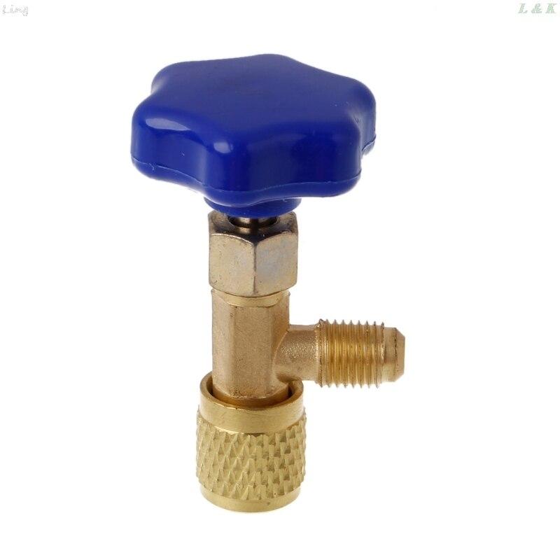 SAE, Auto AC, válvula de grifo abrebotellas para refrigerante de Gas R22 R134a R410A, 1/4
