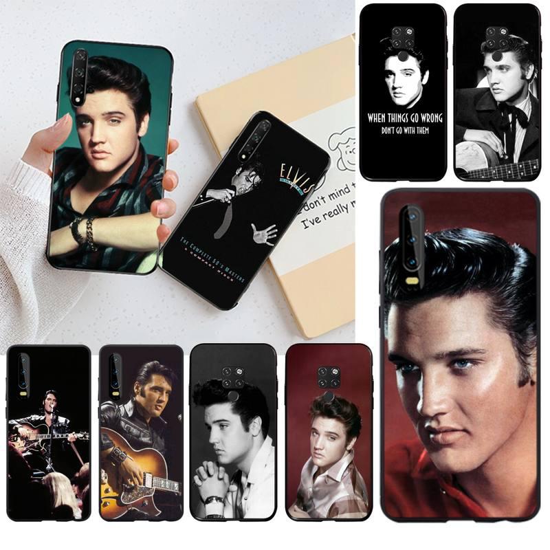 Hpchcjhm popular músico elvis presley telefone capa para huawei p40 p30 p20 lite pro companheiro 20 pro p inteligente 2019 prime