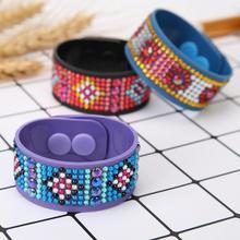 3pcs DIY Diamond Painting Wrist Straps Full Drill Diamond Embroidery Watch Band Belt Silicone Wrist Strap Kids Toy Wrist Straps