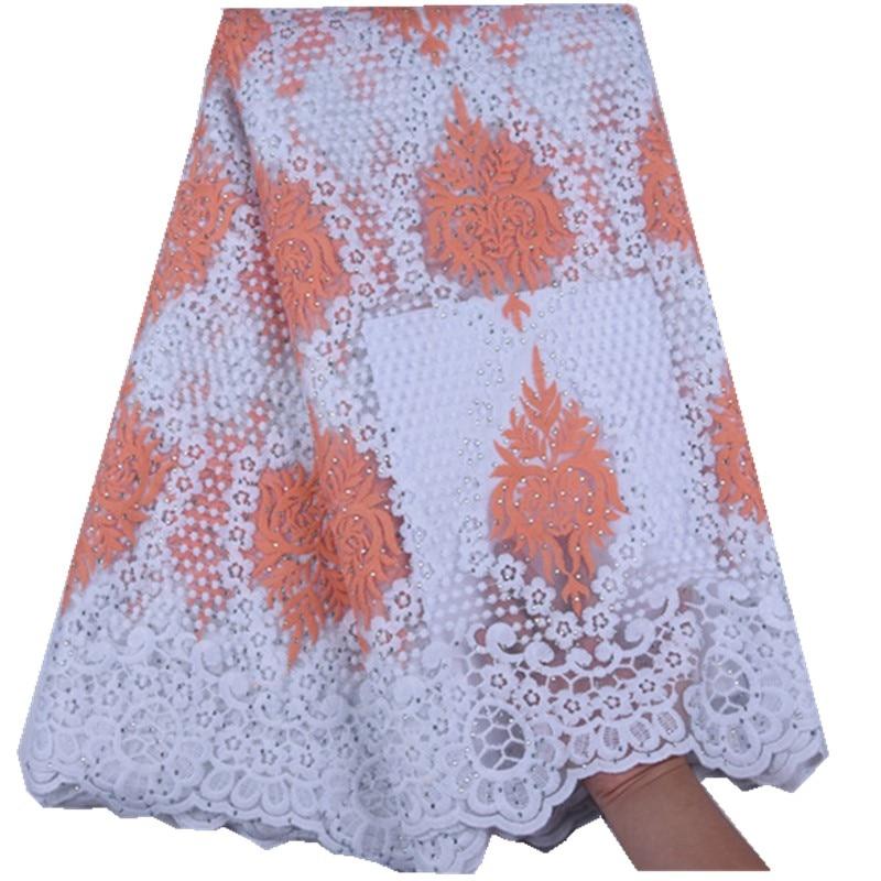 HaoLin الأفريقي أقمشة الدانتيل النيجيري الحليب الحرير الدانتيل ل الأفريقية تول شبكة الدانتيل النسيج فرنسا الحبل الدانتيل للحزب فستان الزفاف