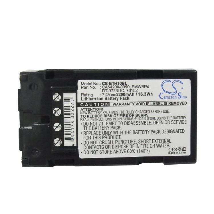 Bateria para Intermec Cameron Sino 24002420242550255023ca54200-0090 Fmwbp4.etc 2200mah T2435