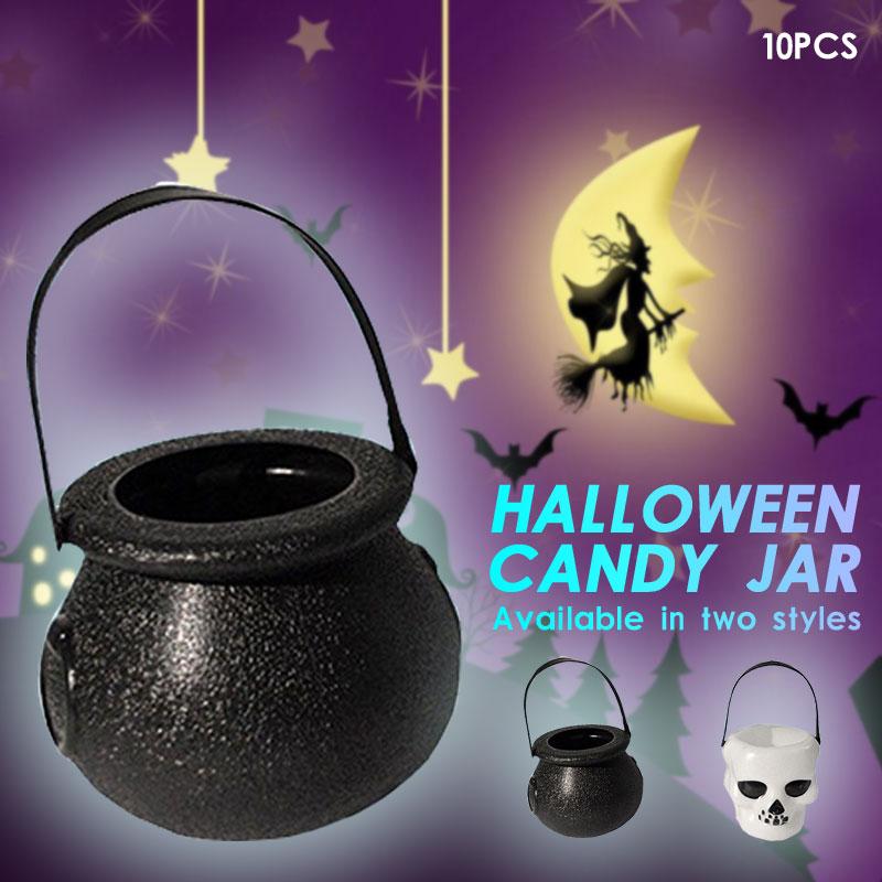 Soledi crânio bruxa purposed halloween candy pot brinquedo chidren presente novidade halloween balde ornamento desktop 10 pçs porta