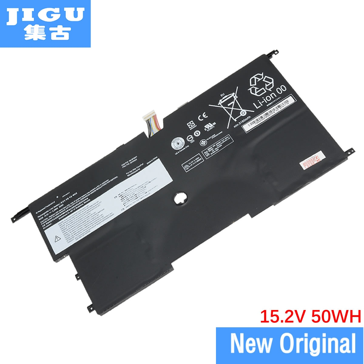 Jigu 15.2 v 51wh orignal bateria do portátil 00hw002 00hw003 45n1070 45n1071 para lenovofor thinkpad x1 carbono 3448 séries win8