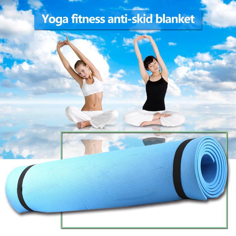 Alfombra de EVA para Yoga de 1730x610x4mm, esterilla antideslizante duradera para ejercicios de gimnasia y Pilates, suministros de construcción para el cuerpo