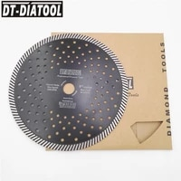 dt diatool 2pcs 230mm9inch diamond hot pressed narrow turbo blades cutting discs for granite marble stone saw blades
