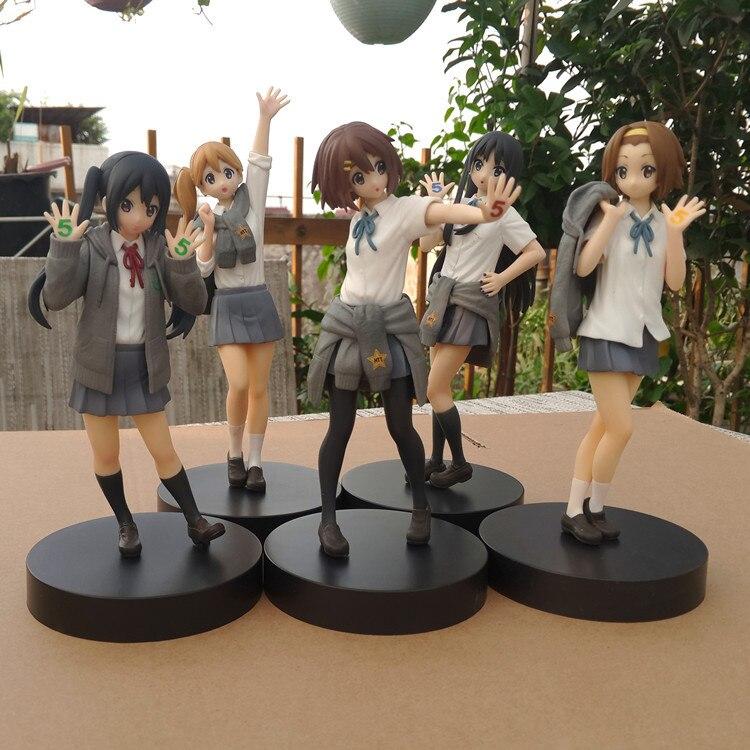 18cm anime figura de ação K-ON 5th aniversário nakano azusa tainaka ritsu kotobuki tsumugi akiyama mio pvc modelo coleção boneca