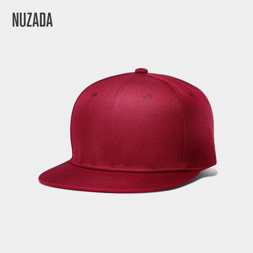 Brand NUZADA Polyester Cotton Men Women Neutral Couple Hip Hop Cap Spring Summer Autumn Simple Classic 7 Colors Caps