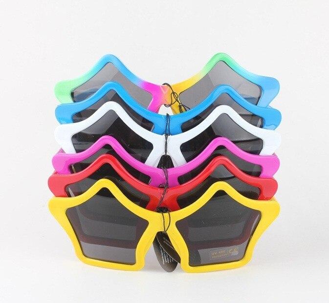 Lindas gafas de sol para niños en forma de estrella de Color caramelo, accesorios de fiesta de disfraces para niños, estilo exagerado, 6 colores