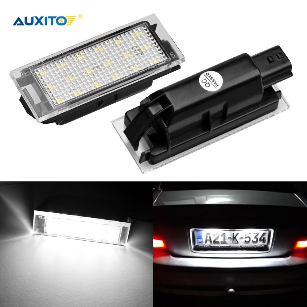 Car LED License Plate Light For Renault Megane 2 Clio Laguna 2 Megane 3 Twingo Master Vel Satis Acce