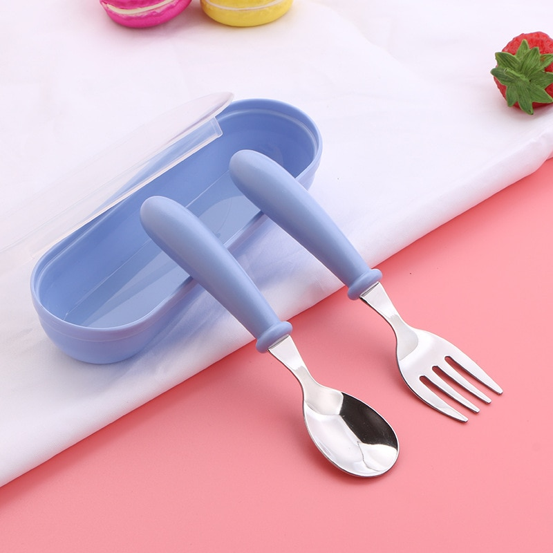 Детская посуда, набор ложек для кормления младенцев, мультяшная посуда из нержавеющей стали, детское питание, товары для кормления младенце...