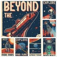 WTQ     peinture sur toile dastronaute  affiche despace drole  decor mural  affiche dart mural retro  image pour decoration de salon  decoration de maison
