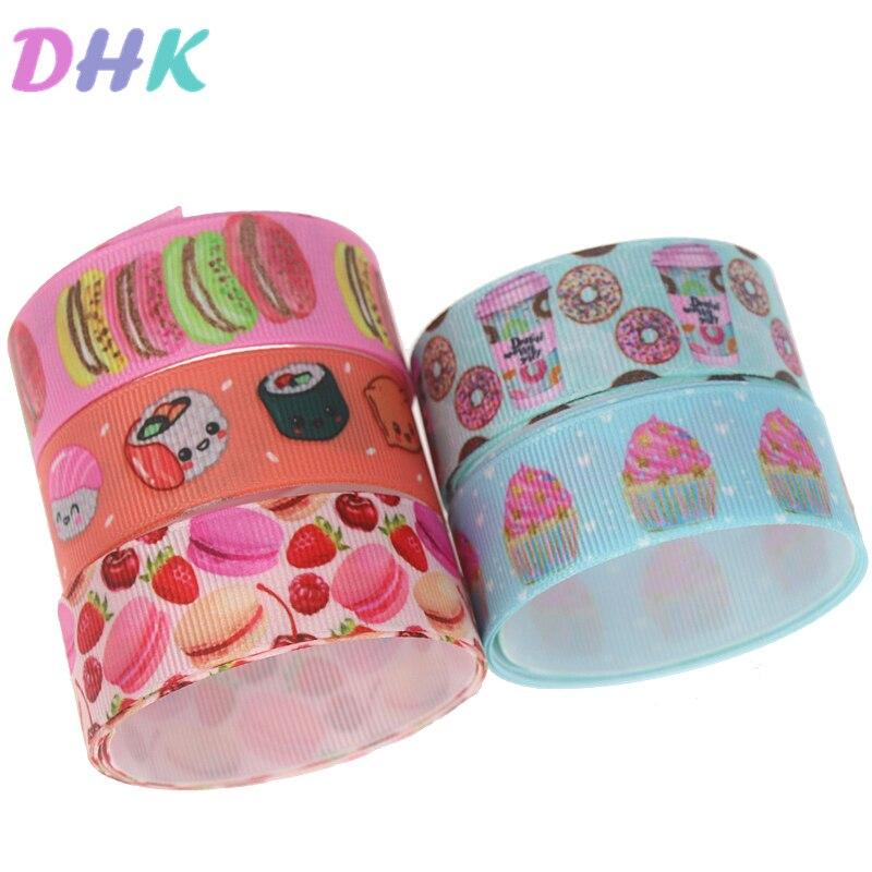 DHK 5 yardas de sushi cinta de Grosgrain estampada de Hairbow accesorios bricolaje decoración venta al por mayor del OEM C1741