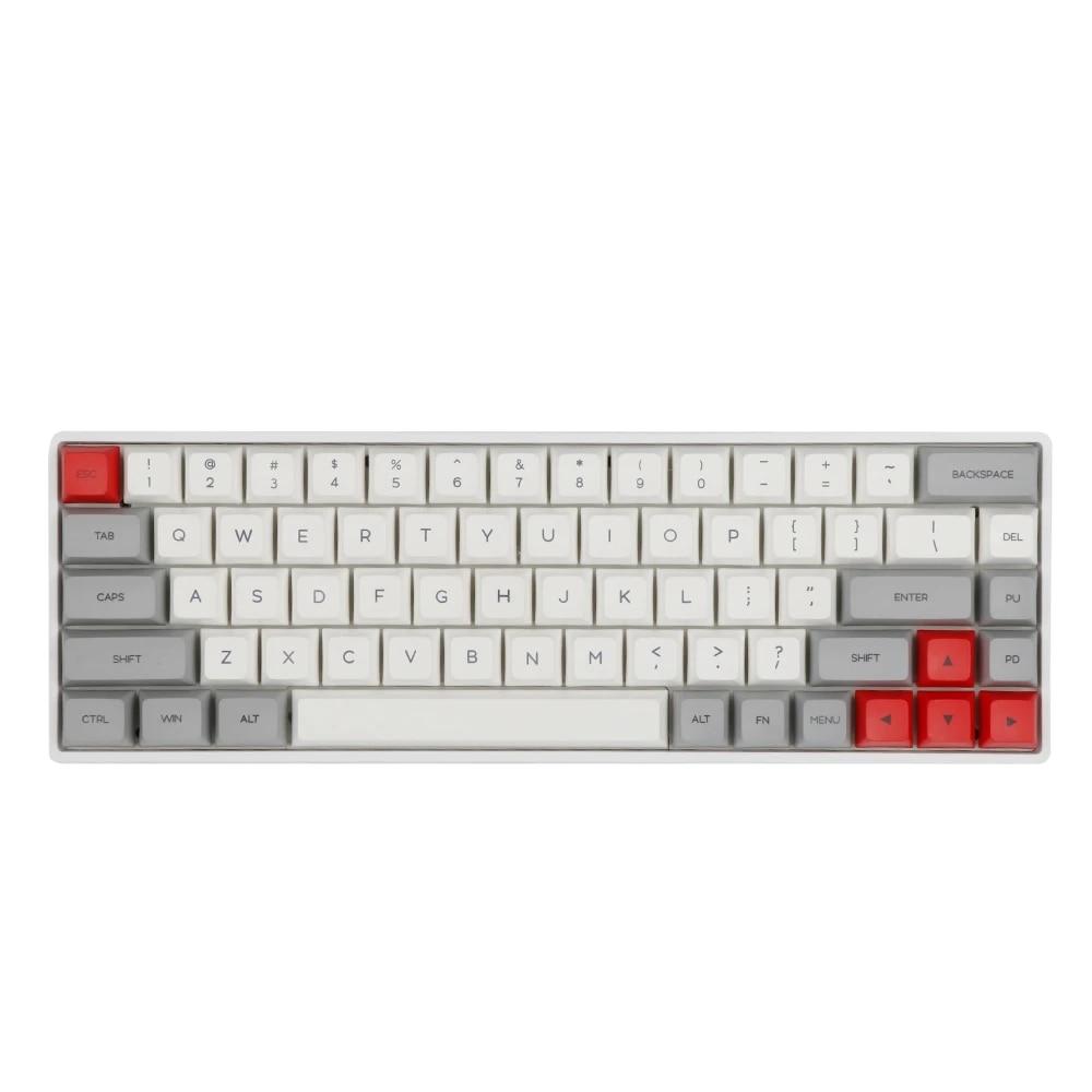 GK68XS 68 مفاتيح قابلة للتبديل بالبلوتوث RGB Bluetooth5.1 لوحة مفاتيح ميكانيكية لاسلكية/سلكية 1900 مللي أمبير في الساعة غطاء لبطارية PBT GSA أغطية مفاتيح Cherry