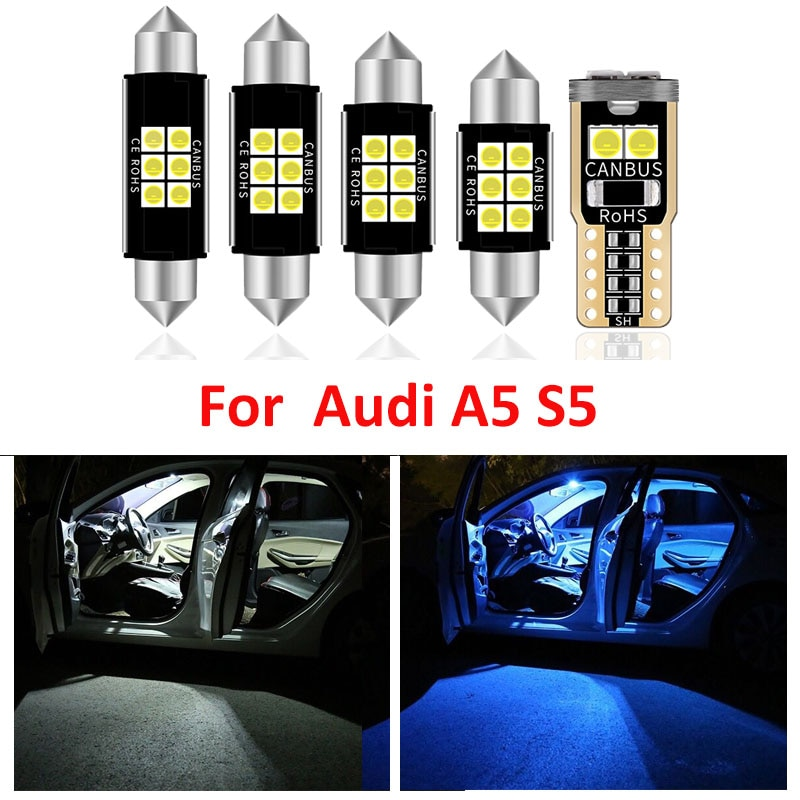 20pcs white premium led interior map dome reading light kit license plate light for volvo xc60 2009 20xx with install tools 17pcs Canbus Car White LED Light Bulbs Interior Package Kit For Audi A5 S5 2008-2012 Map Dome License Plate Light Lamp No Error