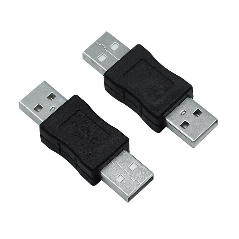Conector macho a macho USB2.0 Mini adaptador USB extensor para acoplador convertidor conector voor ordenador portátil