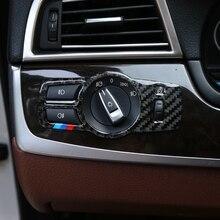 Accessories For BMW F10 F18 F01 F02 F03 F07 F25 F26 Car styling Headlight Switch Buttons Frame Decoration Cover Trim Car Sticker