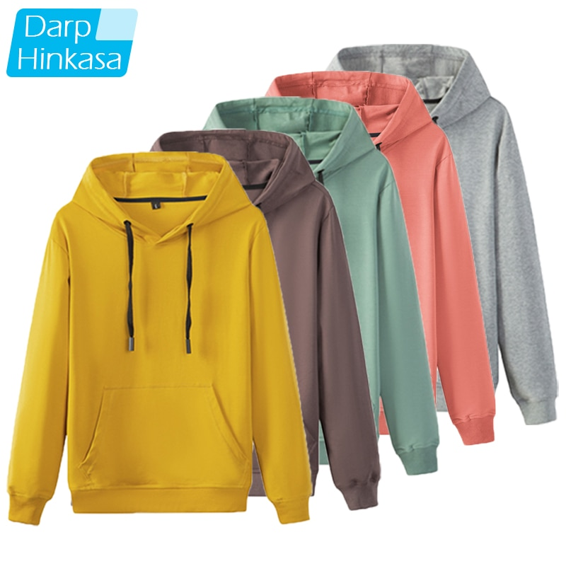 2021 Autumn Brand Men Solid Color Hoodies Men Fashion Casual Hoodies Sweatshirts Men Oversized Hip H