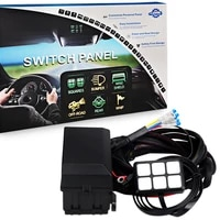 car truck boat marine 6 gang switch panel electronic relay system circuit control box fuse relay box wiring harness assemblies