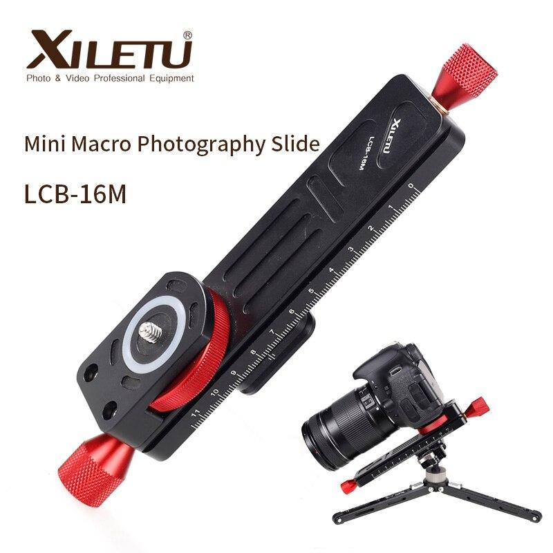 XILETU LCB-16M мини Макросъемка рельс слайдер Настольный портативный слайдер для камеры Макросъемка Временная съемка ARCA SWISS