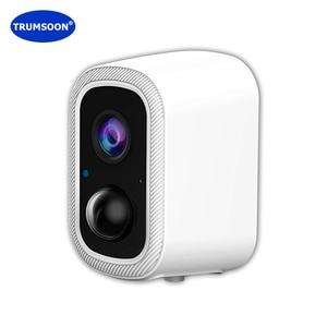 TRUMSOON Solar Outdoor WiFi Surveillance IP Camera Security Wireless Waterproof Motion Detection Battery Night Vision Smart Home