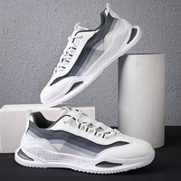 large size mens casual shoes mesh sports shoes breathable comfortable sneakers lightweight running shoes flat shoes tennis shoe
