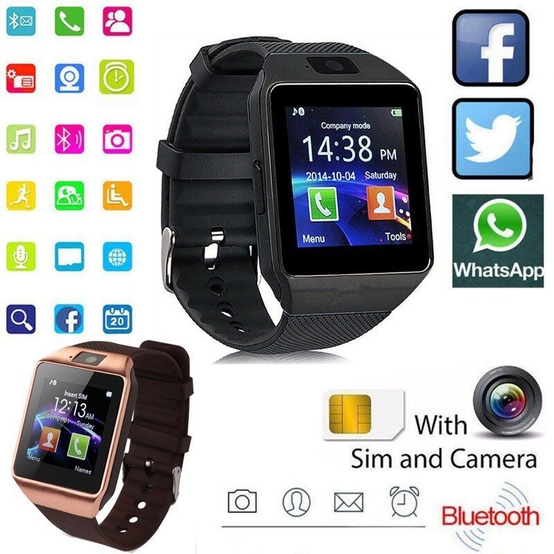 Digital Touch Screen Smart Watch DZ09 Q18 Bracelet Camera Bluetooth WristWatch SIM Card Smartwatch Ios Android Phones Support