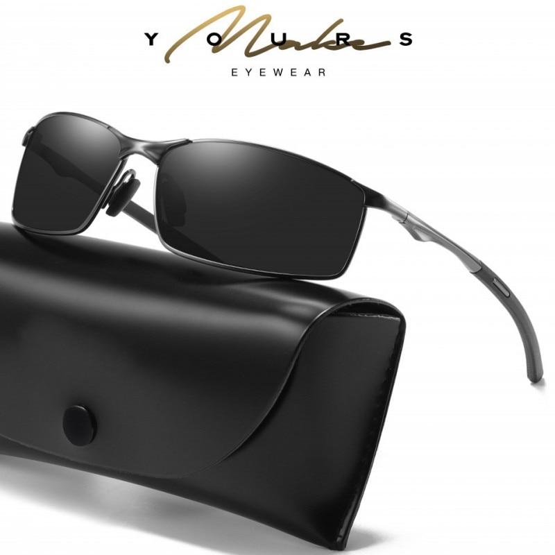 Mens Polarized Sunglasses Metal Frame Sun Glasses Driving Sunglasses Mens Vintage Luxury Brand Desig