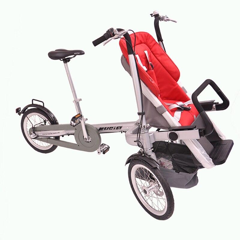 Ricycle cochecito taga bicicleta 7nucia bicicleta bebé caminar coche eléctrico de bebé cochecito triciclo plegable