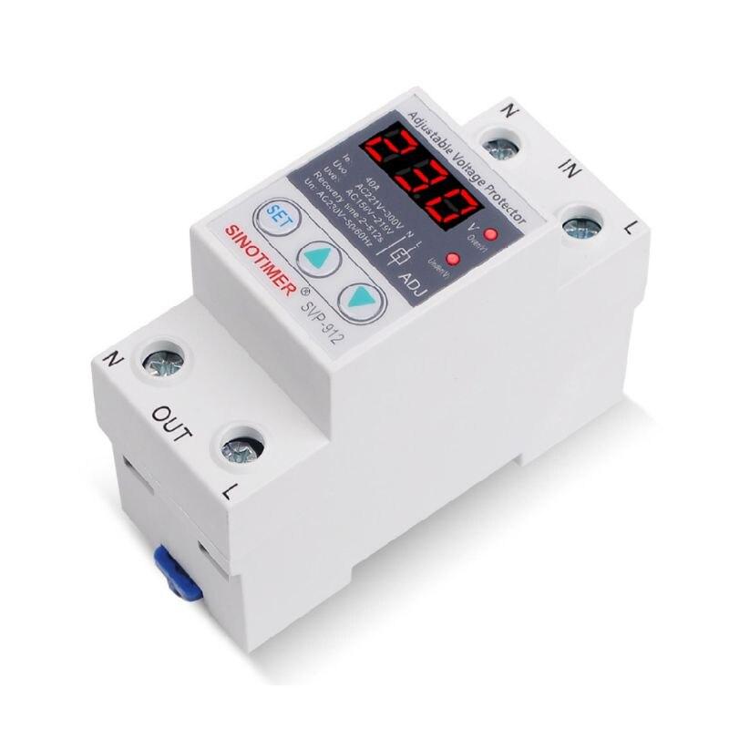 220V 40/63/80A sobre bajo voltaje Protector relé reconectar dispositivo Protector 35ED
