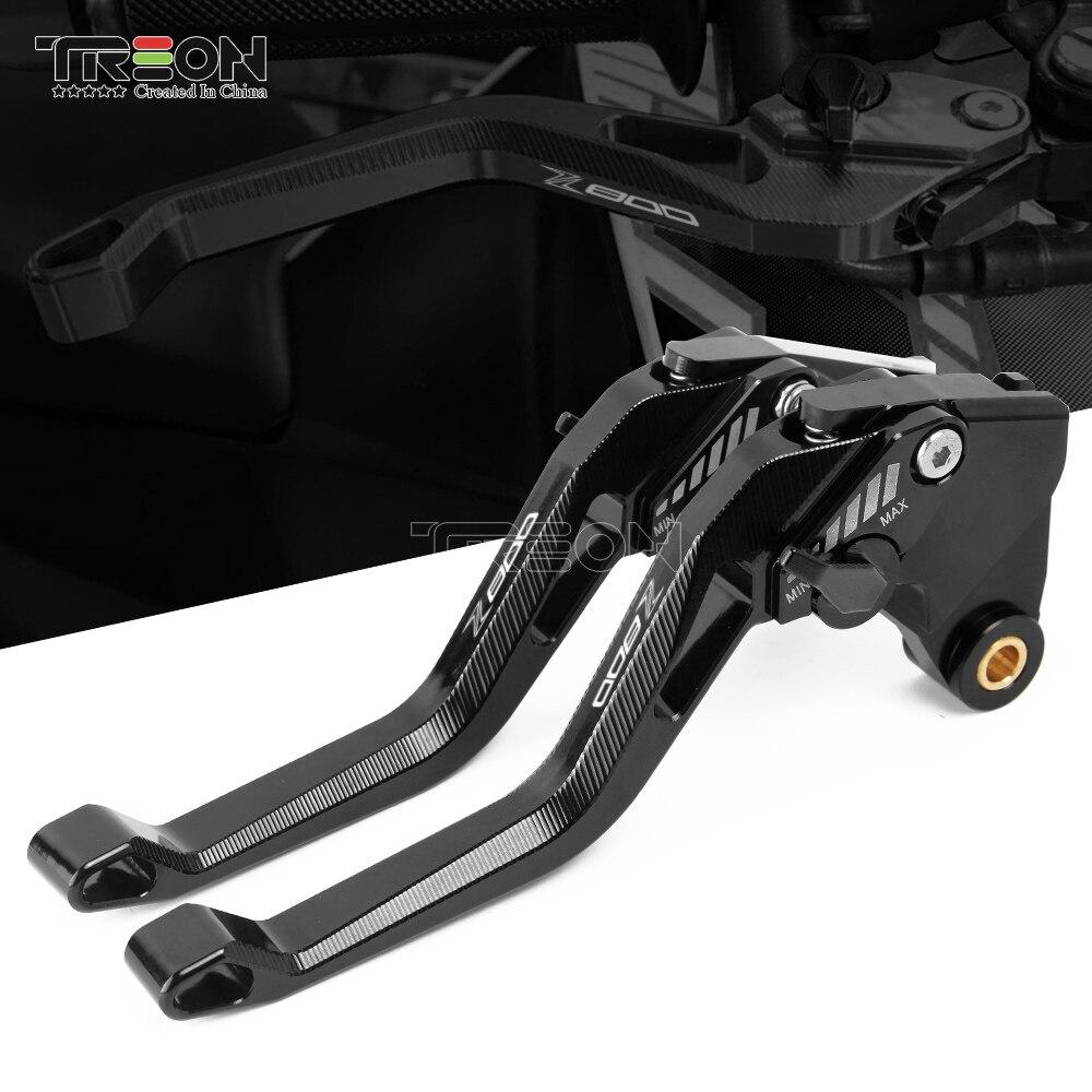 Treon freio de alumínio ajustável para motocicletas, alta qualidade para kawasaki z800/e versão z 800 2013 2014 2015 2016 cnc alavancas de embreagem