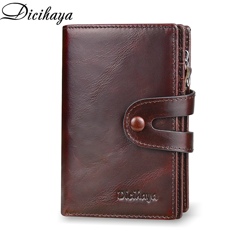 DICIHAYA Brand Wallet  Genuine Leather Men Wallets Coin Purse Short Male Clutch Leather Wallet Mens Money Bag Quality Guarantee men s wallet genuine leather clutch male purse for men zip clutch men s genuine leather wallet men portomonee money bag new 9032