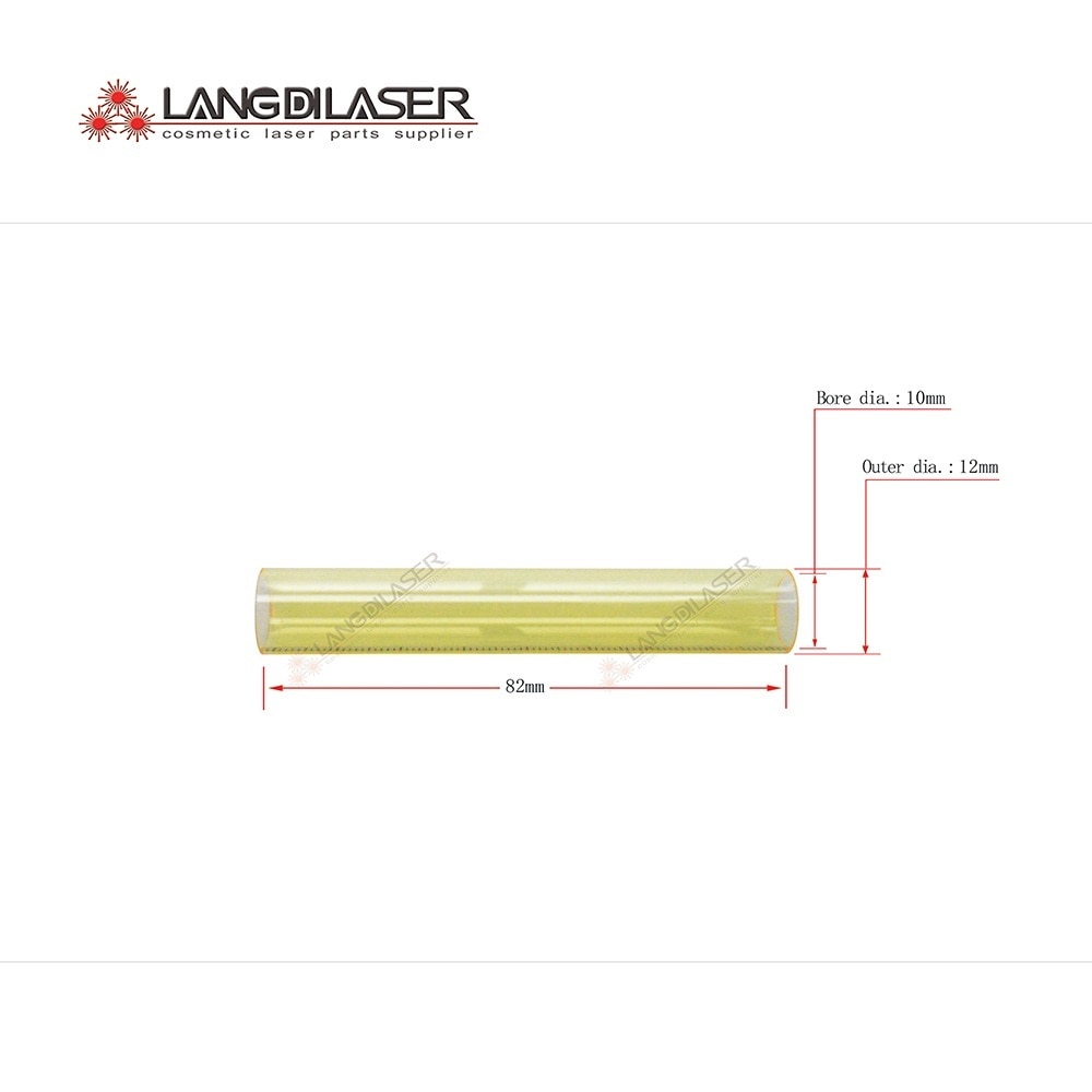 lamp flow tube ,size : 82 *12*10 , UV filter lamp flow tube , quartz tube , fused silica tube