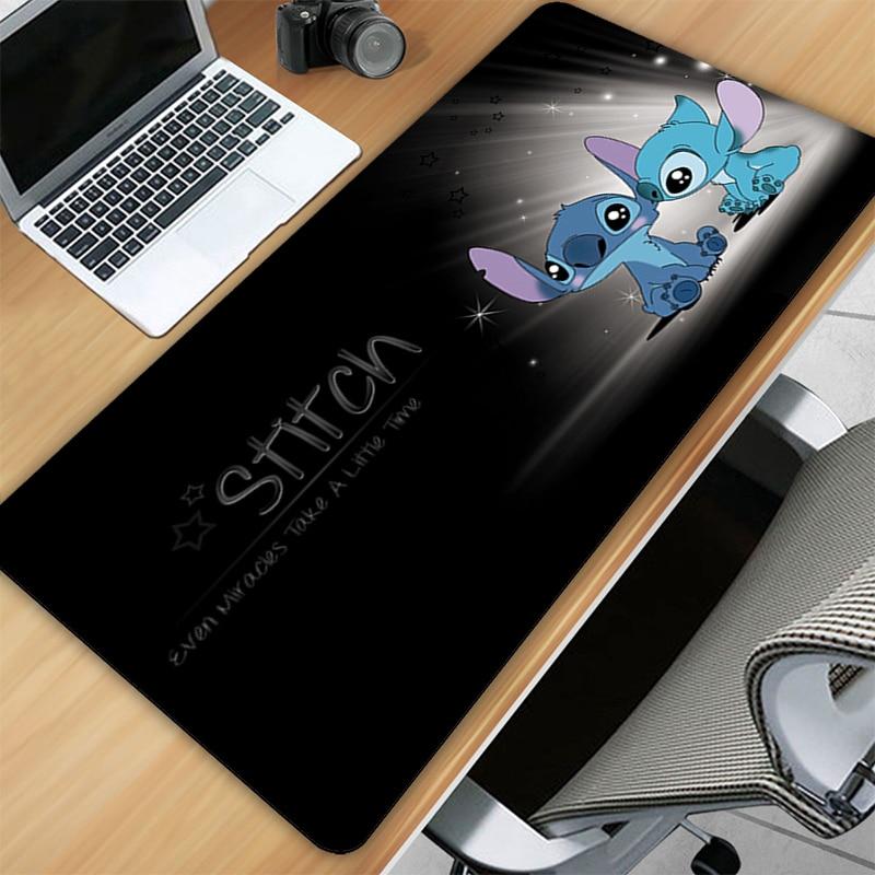 Коврики для мыши Stitch, милый большой коврик для мыши, игровой коврик, игровые аниме коврики, аксессуары для геймеров, коврик для компьютера, д...