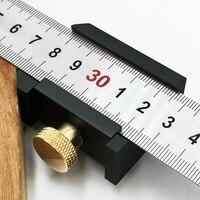 Woodworking Angle Scriber Steel Ruler Positioning Block Line Scriber Gauge Aluminum Alloy For Carpentry DIY Measuring Tools