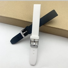 Silicone Rubber watch strap 14mm watch bracelet for LRW-200H watch student watchband waterproof wris