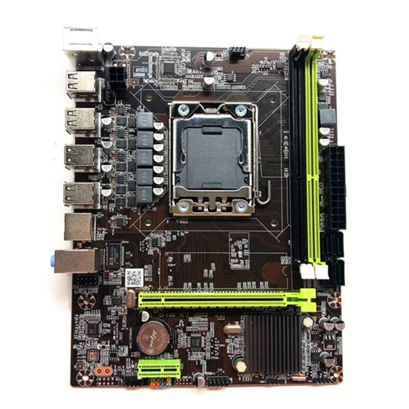 لوحة أم X79 LGA1356 DDR3 تدعم ذاكرة خادم REG ECC معالج Xeon E5 ثنائي القناة PCI-E