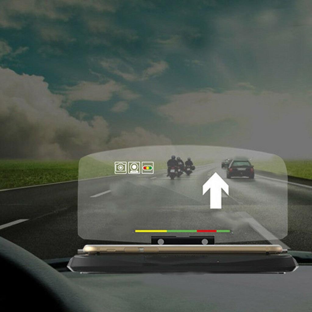Универсальный автомобильный HUD Дисплей проектор телефон Навигация держатель смартфона GPS HUD Дисплей держатель телефона GPS проектор