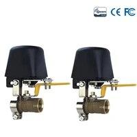 2pcslot smart home automation eu z wave gas water auto shutoff valve gas valve shutoff controller onoff water gas switch