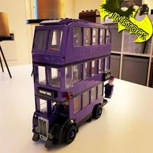 The Knight Bus en Stock 75957 11342 Potter película Serices 403 Uds modelo bloques ladrillos juguetes Bela